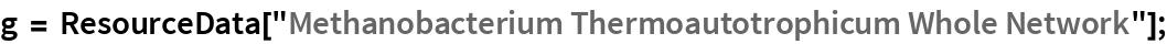 "g = ResourceData[    ""Methanobacterium Thermoautotrophicum Whole Network""];"