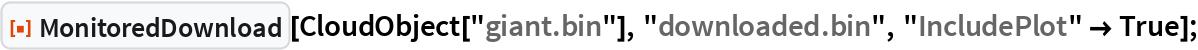 """ResourceFunction[""""MonitoredDownload""""][CloudObject[""""giant.bin""""], """"downloaded.bin"""", """"IncludePlot"""" -> True];"""