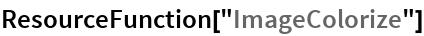 "ResourceFunction[""ImageColorize""]"