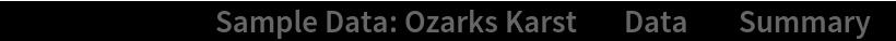 "ResourceData[\!\(\* TagBox[""\""\<Sample Data: Ozarks Karst\>\"""", #& , BoxID -> ""ResourceTag-Sample Data: Ozarks Karst-Input"", AutoDelete->True]\), ""Data""][""Summary""]"