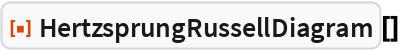 "ResourceFunction[""HertzsprungRussellDiagram""][]"