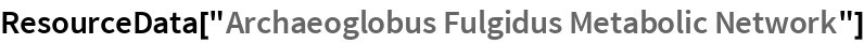 "ResourceData[""Archaeoglobus Fulgidus Metabolic Network""]"