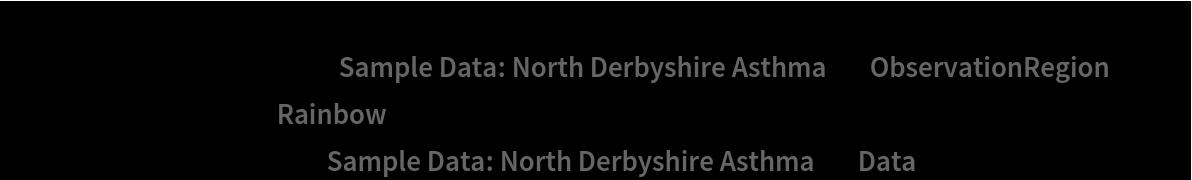"Show[ContourPlot[density[{x, y}], {x, y} \[Element] ResourceData[\!\(\* TagBox[""\""\<Sample Data: North Derbyshire Asthma\>\"""", #& , BoxID -> ""ResourceTag-Sample Data: North Derbyshire Asthma-Input"", AutoDelete->True]\), ""ObservationRegion""], ColorFunction -> ""Rainbow""], ListPlot[ResourceData[\!\(\* TagBox[""\""\<Sample Data: North Derbyshire Asthma\>\"""", #& , BoxID -> ""ResourceTag-Sample Data: North Derbyshire Asthma-Input"", AutoDelete->True]\), ""Data""], PlotStyle -> Black]]"