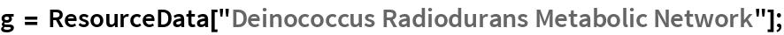 """g = ResourceData[""""Deinococcus Radiodurans Metabolic Network""""];"""