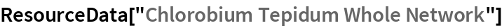 "ResourceData[""Chlorobium Tepidum Whole Network""]"