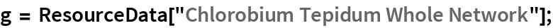 """g = ResourceData[""""Chlorobium Tepidum Whole Network""""];"""