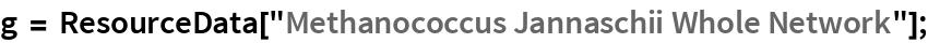 """g = ResourceData[""""Methanococcus Jannaschii Whole Network""""];"""