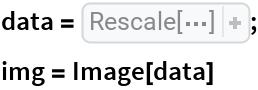 data = Rescale[ Table[ With[{sum = 0.75 Sum[ Cos[(0.4 x) Cos[i (Pi/5.)] - (0.4 y) Sin[i (Pi/5.)]], {i, 5}]},  If[ OddQ[ Floor[sum]], 1 - Mod[sum, 1],  Mod[sum, 1]]], {x, -256, 256}, {y, -256, 256}]]; img = Image[data]