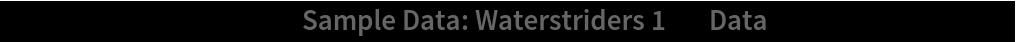 "ListPlot[ResourceData[\!\(\* TagBox[""\""\<Sample Data: Waterstriders 1\>\"""", #& , BoxID -> ""ResourceTag-Sample Data: Waterstriders 1-Input"", AutoDelete->True]\), ""Data""], AspectRatio -> 1]"