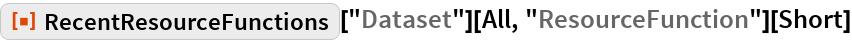 "ResourceFunction[""RecentResourceFunctions""][""Dataset""][All, ""ResourceFunction""][Short]"