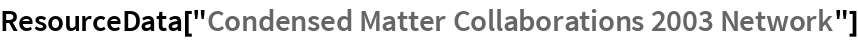 "ResourceData[""Condensed Matter Collaborations 2003 Network""]"