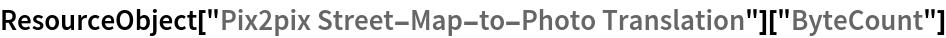 "ResourceObject[""Pix2pix Street-Map-to-Photo Translation""][""ByteCount""]"