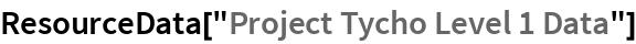 "ResourceData[""Project Tycho Level 1 Data""]"