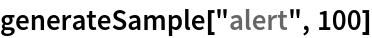 "generateSample[""alert"", 100]"