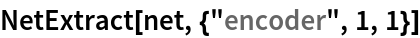 "NetExtract[net, {""encoder"", 1, 1}]"