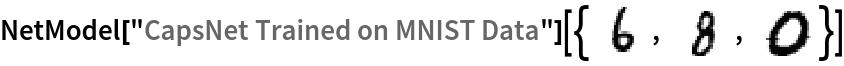 "NetModel[""CapsNet Trained on MNIST Data""][{\!\(\* GraphicsBox[ TagBox[RasterBox[CompressedData["" 1:eJxTTMoPSmNiYGAo5gASQYnljkVFiZXBAkBOaF5xZnpeaopnXklqemqRRRJI mQwU/6cK2MHQhEtqiTTTJVxyQUy633BIneZSeolLWwSTBS6pP1ZM+bjkzjEJ 4ZL6X81kjkvqKydTHS65L0y45c4wMS3FJdfOxHRtcW3tkY/Y5cBA+T5WOaPk 5GgmJkNMOQWwW/6FMMliyqWB5X46MlliNTPo//+JTExbMOU+Ad0h683ElP8P U+73fCGQM4XuYPHD//97LZmYLPdhlRrUAABgHMjK ""], {{0, 28}, {28, 0}}, {0, 255}, ColorFunction->GrayLevel], BoxForm`ImageTag[       ""Byte"", ColorSpace -> Automatic, Interleaving -> None], Selectable->False], DefaultBaseStyle->""ImageGraphics"", ImageSizeRaw->{28, 28}, PlotRange->{{0, 28}, {0, 28}}]\), \!\(\* GraphicsBox[ TagBox[RasterBox[CompressedData["" 1:eJxTTMoPSmNiYGAo5gASQYnljkVFiZXBAkBOaF5xZnpeaopnXklqemqRRRJI mQwU/x9IsJWBKew2dql3okzMzH6/sMr5M7tPNGWeglXOQPf//yPiZdjlgMI7 mbHKVTOVQQkM8FCaef+v3dIih7HIfQphnnKCmdntBzYzdzKLizEzM+/DJvdD hxnoP+xueafNxCvJwWSG3S0SV/+7M/tikbvAzHzyP1AOi5lvNJj9fwPlVJdj ytUzMx8HUu7xWIw0ZdJ49f/PJUWTL5hyTMwT//+/xMxcgkUfE/Ou/92KzKGf sMqpGLBzTb6MRer/Sh1gmGDzG/0AACEauS8= ""], {{0, 28}, {28, 0}}, {0, 255},         ColorFunction->GrayLevel], BoxForm`ImageTag[       ""Byte"", ColorSpace -> Automatic, Interleaving -> None], Selectable->False], DefaultBaseStyle->""ImageGraphics"", ImageSizeRaw->{28, 28}, PlotRange->{{0, 28}, {0, 28}}]\), \!\(\* GraphicsBox[ TagBox[RasterBox[CompressedData["" 1:eJxTTMoPSmNiYGAo5gASQYnljkVFiZXBAkBOaF5xZnpeaopnXklqemqRRRJI mQwU/x9IsN/BdW1Vstx8LFK7eZgYmYBAcepvNJkvG/mZIHJMTLfR5OaBBAtX r44CKqn4hSK1TRgoZQNipQEZp5ClPpoCRSr+gJiXgarykeWWAqUqoSalocrd 52ViCnwJMx5VLpeJyQVufyOK3Fo2JqYWOM+WiWkFkjZGRjs4p4mRkXE5nPcp GegQGOeXM9BZ1vth3EAgT3I+lHMOyLE7Adf3y4uJqeY1hP3MFShXhbDuTwgT 0ywIa5s9Wnh+AnIFErYBgSVIRrz4G0LumxoTFIDiQaztPzLIQ5JzPogi9f+Z NkzOof77fzTwY1EcSKps5y90GToCAMITbxU= ""], {{0, 28}, {28, 0}}, {0, 255},         ColorFunction->GrayLevel], BoxForm`ImageTag[       ""Byte"", ColorSpace -> Automatic, Interleaving -> None], Selectable->False], DefaultBaseStyle->""ImageGraphics"", ImageSizeRaw->{28, 28}, PlotRange->{{0,"