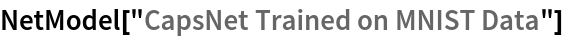 "NetModel[""CapsNet Trained on MNIST Data""]"