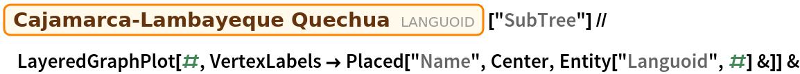 "Entity[""Languoid"", ""caja1240""][""SubTree""] // LayeredGraphPlot[#, VertexLabels -> Placed[""Name"", Center, Entity[""Languoid"", #] &]] &"