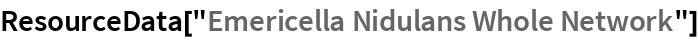 "ResourceData[""Emericella Nidulans Whole Network""]"