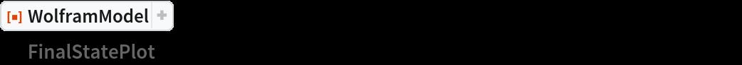 """ResourceFunction[  """"WolframModel""""][{{x, y}, {x, z}} -> {{x, z}, {x, w}, {y, w}, {z, w}}, {{0, 0}, {0, 0}}, 10, """"FinalStatePlot""""]"""