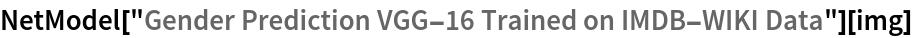 "NetModel[""Gender Prediction VGG-16 Trained on IMDB-WIKI Data""][img]"