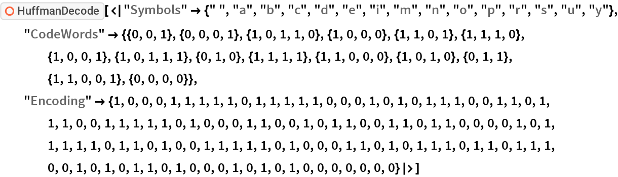 "ResourceFunction[  ""HuffmanDecode""][<