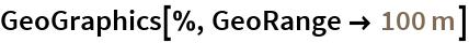 """GeoGraphics[%, GeoRange -> Quantity[100, """"Meters""""]]"""