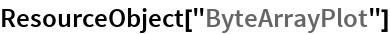 """ResourceObject[""""ByteArrayPlot""""]"""