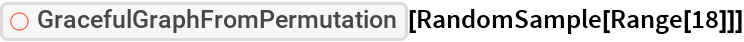 "ResourceFunction[""GracefulGraphFromPermutation""][  RandomSample[Range[18]]]"