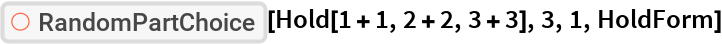 """ResourceFunction[""""606d4f46-9ed8-442a-9149-2decde5643d3""""][  Hold[1 + 1, 2 + 2, 3 + 3], 3, 1, HoldForm]"""
