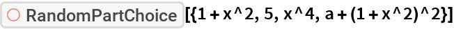 """ResourceFunction[  """"606d4f46-9ed8-442a-9149-2decde5643d3""""][{1 + x^2, 5, x^4, a + (1 + x^2)^2}]"""