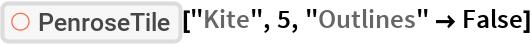 "ResourceFunction[""PenroseTile""][""Kite"", 5, ""Outlines"" -> False]"
