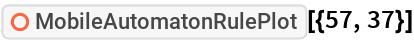 """ResourceFunction[""""MobileAutomatonRulePlot""""][{57, 37}]"""