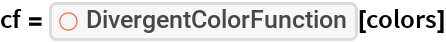 "cf = ResourceFunction[""DivergentColorFunction""][colors]"