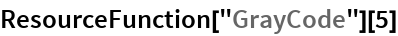 "ResourceFunction[""GrayCode""][5]"